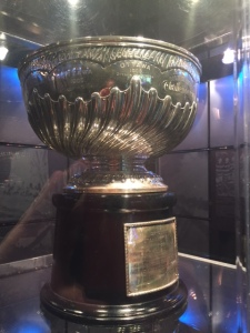 The original cup proffered by Lord Stanley.